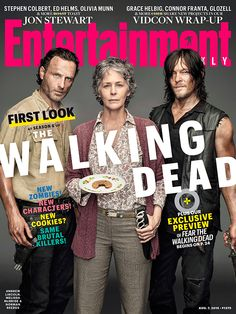Entertainment Weekly — The Walking Dead stars Norman Reedus and Andrew...