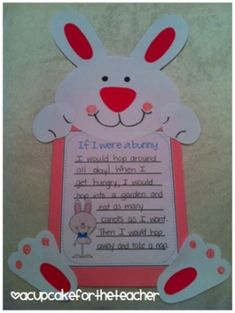bunny craft for spring and/or Easter by jannie