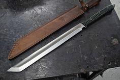 CFK USA iPak Survival Custom Handmade D2 Yoshimitsu 2-Handed Machete TANTO Knife #CFKCutleryCo