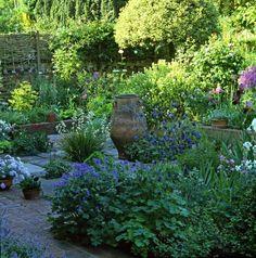 Sunken Garden in summer bloom at Raworth, London