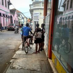 On the streets of São Tomé.