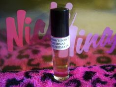Nicki Minaj Pink Friday Type Women Perfume Premium Quality Fragrance Oil Roll On by Serina's Bow Tiq. $6.99. NICKI MINAJ PINK FRIDAY Type Women Perfume Premium Quality Uncut Fragrance Oil Roll on  ONE BRAND NEW FULL ROLL ON FRAGRANCE 1/3 fl. oz  THANK YOU FOR SHOPPING SERINASBOWTIQ.  DISCLAIMER: THE ITEM ON THIS PAGE IS IN NO WAY CONNECTED TO MANUFACTURERS, DISTRIBUTORS, OR OWNERS OF THE DESIGNER ORIGINAL FRAGRANCES OR COMPANIES. GREAT QUALITY, LASTS ALL DAY.