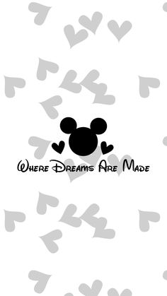 Wallpaper, Mono, Black, White, Background, HD, iPhone, Android, Minimal, Clean, heart, hearts, Mickey Mouse, Disney,