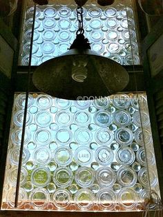 Steampunk glass canning jar lid privacy window - by Donna Herman featured on I Love That Junk