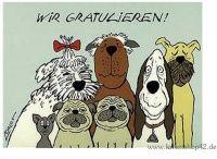 WIR GRATULIEREN - Loriot -Glückwunsch-Postkarte