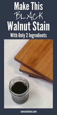 Want a natural way to stain wood projects? This DIY black walnut stain is the answer. Its made with only two ingredients. Black walnuts and water! Woodworking Finishes, Beginner Woodworking Projects, Woodworking Techniques, Woodworking Tips, Walnut Stain, Walnut Wood, Stain Wood, Oil Based Stain, Water Based Stain