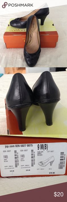 Strictly Comfort black heels Strictly Comfort heels, black and size 9. Worn once. Comes with box. strictly comfort Shoes Heels