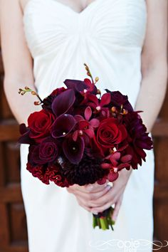 Burgundy plum bouquet beautiful flowers