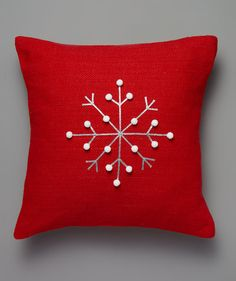 Snowflake Decorations That Go Way Beyond Paper Cutouts- Snowflake Pillow Paper Snowflakes, Christmas Snowflakes, Snowflake Decorations, Christmas Decorations, Christmas Sewing, Christmas Crafts, Simple Christmas, Christmas Projects, Holiday Crafts