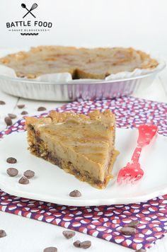 Cookie Pie {Battle Food #18} | VG Zone Vegan Desserts, Vegan Recipes, Patisserie Vegan, Gateaux Vegan, Banoffee Pie, Cookie Pie, Gluten Free Cooking, Healthy Sweets, Cookies Et Biscuits