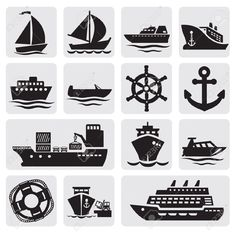 Boat And Ship Icons Set Royalty Free Cliparts, Vectors, And Stock Illustration. Image 14697482.