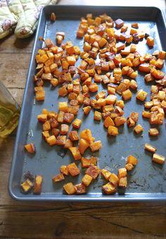 crispy roasted butternut squash