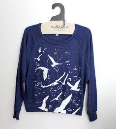 Night Birds Navy Blue Sweatshirt