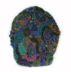 Blue Mountains back view - Freeform crochet snood