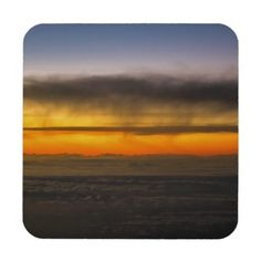 Come Fly With Me Plastic Coasters w/ cork back. #coasters #twilight #clouds