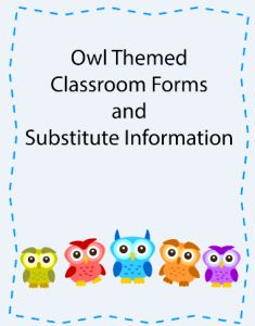 owl themed classroomsa | Hoot Hoot! Owl themed classroom forms, nameplates, and a new ...