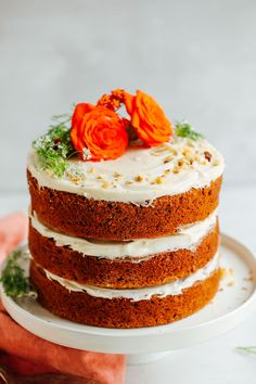 Amazing carrot cake made in 1 bowl! Simple to make, insanely moist and flavorful, and undetectably vegan and gluten-free!