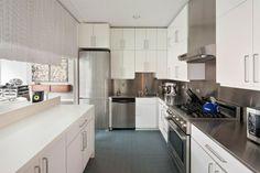 cuisine blanche et inox - cuisine laquée blanc