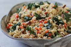Quinoa with Kale and Sun Dried Tomatoes - so easy and sooo yummy