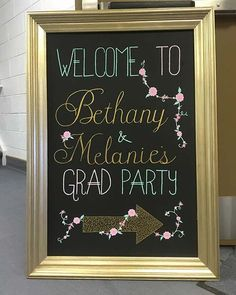 Personalized Welcome Sign Graduation Party Idea