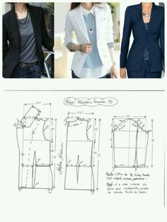 Blazer Sewing Pattern Casual Pattern Inspiration For The Non Girly Sewist Allspice Abounds Sewing Dress, Dress Sewing Patterns, Sewing Clothes, Clothing Patterns, Diy Clothes, Fashion Sewing, Diy Fashion, Ideias Fashion, Fashion Details