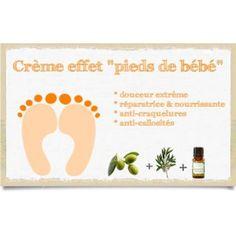"Crème ""effet pieds de bébé"""