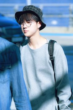 BTS FACT : JIN  jin has really strong prescription glasses but doesn't wear them usually  #awwJIN