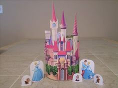 make your own disney princess castles with printables and a paint can