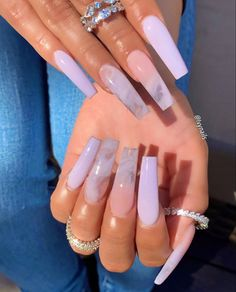 40 Graceful Acrylic Coffin Nail Designs for Long Nails and Short Nails - The First-Hand Fashion News for Females acrylic nails coffin long Nail Design Glitter, Cute Acrylic Nail Designs, Best Acrylic Nails, Marble Acrylic Nails, Long Nail Designs, Coffin Nail Designs, White Acrylic Nails With Glitter, Coffin Nails Designs Kylie Jenner, Acrylic Nails Coffin Ombre