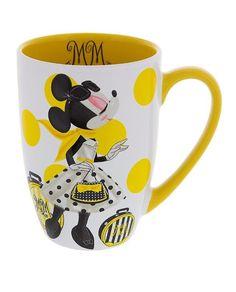 Disney Parks Minnie Mouse Signature Ceramic Mug New