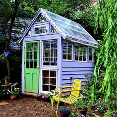 Greenhouse and Potting Shed Inspiration  Grow all year long! Ohhhh Homegrown tomatoes all year long-Yes!