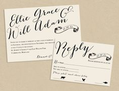 love the calligraphy on this invite by Seed To Sprout Design