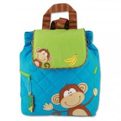 Monkey Quilted Backpack - i want this!