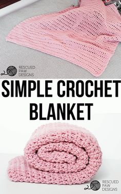 Simple Crochet Blanket Pattern From Rescued Paw Designs Free & Simple Crochet Blanket Pattern - Perfect for Beginners!  Crochet Pattern By Rescued Paw Designs