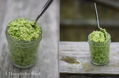 Broccoli Pesto (healthy, delicious, and I don't have to spend $4 per 2 oz. of basil for basil pesto!)
