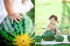 Asian Baby + Watermelon = Deliciously sweet