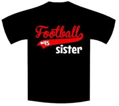 Football Brother/Sister Personalized with Name and Number Bodysuit or T-Shirt saying is added to our super soft white bodysuits or t-shirts using high quality heat press vinyl and our super amazing heat press!!! Great way to show sibling school spirit. Can coordinate with school colors.
