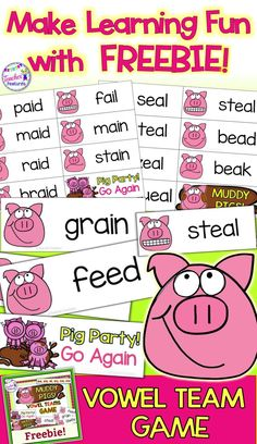 Want your students to rock their phonics skills? Loads of vowel team fun with this interactive game for grade and grade. Break the boredom and motivate your kids! Vowel Activities, Teaching Phonics, Phonics Activities, Reading Activities, Alpha Phonics, Phonics Centers, Teaching Reading, Reading Centers, Reading Skills