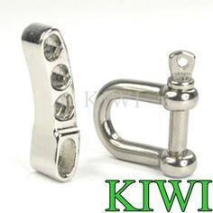 New 2 Packs Lot Stainless Steel Adjustable Paracord Bracelet Buckles Shackles | eBay