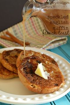 A sweet batter makes this English Muffin  French Toast irresistible!  Little Dairy on the Prairie