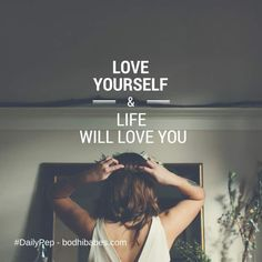 #DailyPep - When you love yourself, life reflects that #love back to you.   Keep your thoughts and actions kind... treat yourself with the same respect and love you show others.  Be #Brave, Be #Bold, You're #Beautiful! x Louise #inspire #vibrant #Bodhi #mindfulness #SpiritJunkie #DesireMap