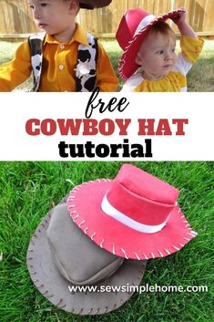 Follow this step by step tutorial on how to make a cowboy hat from foam for Halloween costumes or dress up boxes Woody And Jessie, Jessie Toy Story, Halloween Sewing, Halloween Costumes, Sewing Tutorials, Sewing Projects, Dress Up Boxes, Hat Tutorial