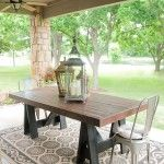 """outdoor dining table. This is a fabulous site for making your """"knock offs""""!  c"""