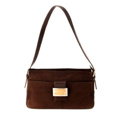 Fendi brown suede  shoulder  bag. Available at lxrco.com for  179 57d04da9dcc2e