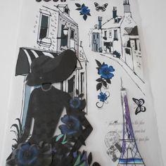 9 grand adhésifs,stickers muraux 5 d thème paris Bonne Année 2016, Thème  Paris 345f572daecb