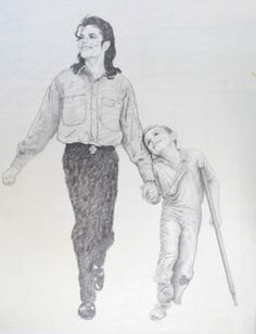 Field of Dreams, sketch - David Nordahl, Michael Jackson's personal portraitist from 1988 - 2005, USA