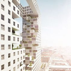 using the concept of a void, em[sys] design group and challenge studio experimental approach to urban living features two facing, and connected, towers. each unit has a small green space that, when tended to, contributes to the overall view from the opposing section.  see more of the project on #designboom! #architecture #designboomreaders