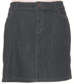 Ann Taylor Denim Stretchy Mini Skirt Blue