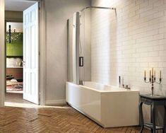 Vasche doccia combinate - Vasca doccia combinata angolare Pop-Up di Glass