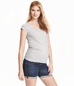 MAMA Denim Shorts   Product Detail   H&M